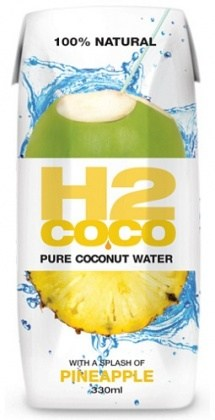 H2Coco Pineapple Coconut Water 12x330ml