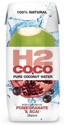 H2Coco  Pomegranate & Acai Coconut Water 12x330ml