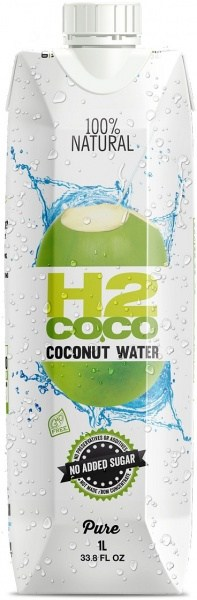 H2Coco Pure Coconut Water 12x1L