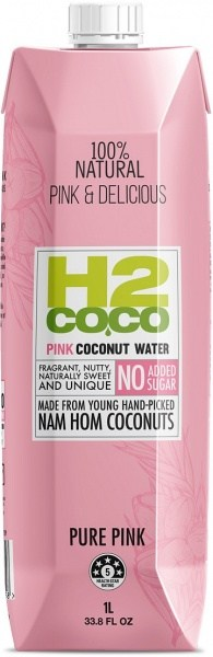 H2Coco Pure Pink Coconut Water 6x1L