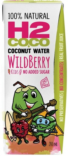 H2Coco Wildberry Coconut Water (Pack of 3) 200ml