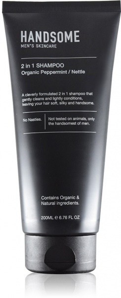 Handsome Men's Organic Skincare 2 in 1 Shampoo Peppermint/Nettle 200ml