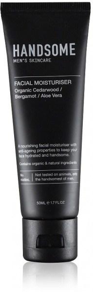 Handsome Men's Organic Skincare Facial Moisturiser Cedarwood/Bergamot/Aloe Vera 50ml