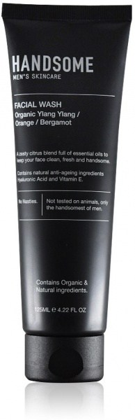 Handsome Men's Organic Skincare Facial Wash Ylang Ylang/Orange/Bergamot 125ml