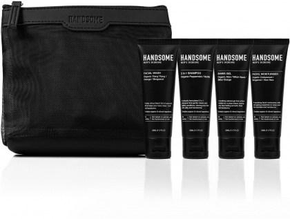 Handsome Men's Organic Skincare On the Go Gift Pack