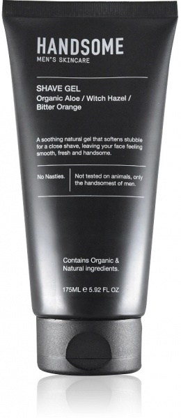 Handsome Men's Organic Skincare Shave Gel Aloe/Witch Hazel/Bitter Orange 175ml