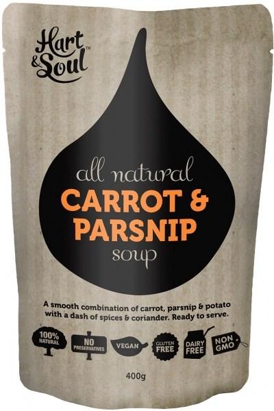Hart & Soul All Natural Carrot & Parsnip Soup Pouch  Vegan 400g