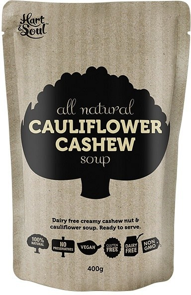 Hart & Soul All Natural Cauliflower Cashew Soup in Pouch 400g