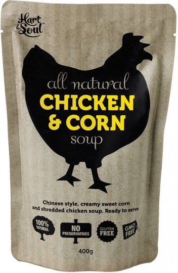 Hart & Soul All Natural Chicken & Corn Soup in Pouch 400g