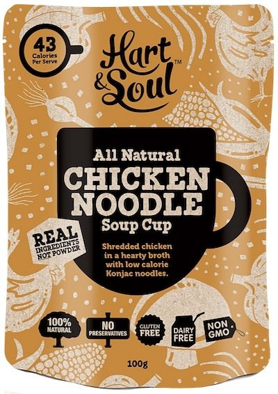 Hart & Soul All Natural Chicken Noodle Soup Cup Sachet  100g