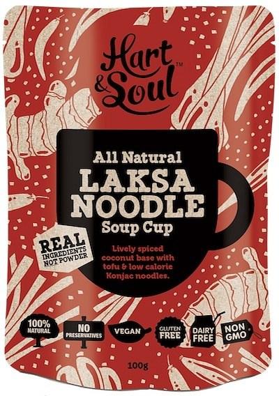 Hart & Soul All Natural Laksa Noodle Soup Cup Sachet  Vegan 100g