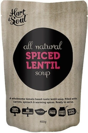 Hart & Soul All Natural Spiced Lentil Soup Pouch  Vegan 400g