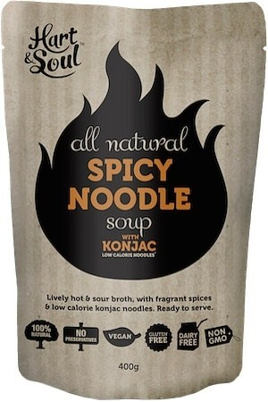 Hart & Soul All Natural Spicy Noodle with Konjac Soup Pouch  Vegan 400g