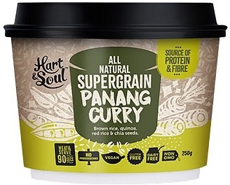 Hart & Soul All Natural Super Grain Panang Curry Ready Meal  Vegan 250g