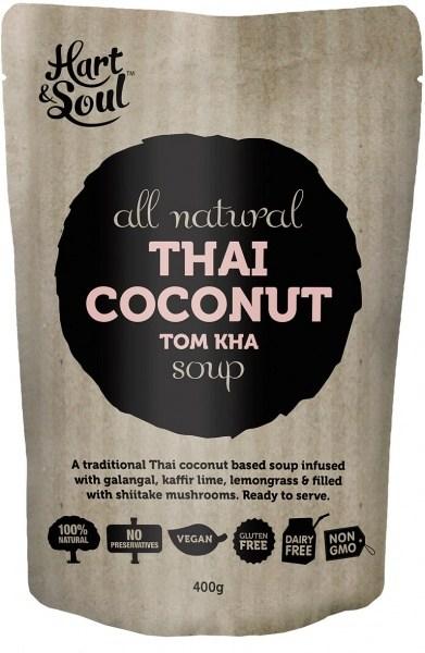 Hart & Soul All Natural Thai Coconut Tom Kha Soup Pouch  Vegan 400g