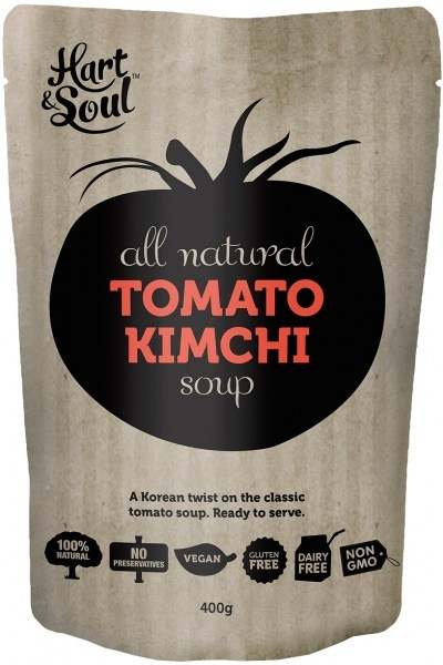 Hart & Soul All Natural Tomato Kimchi Soup Pouch  Vegan 400g