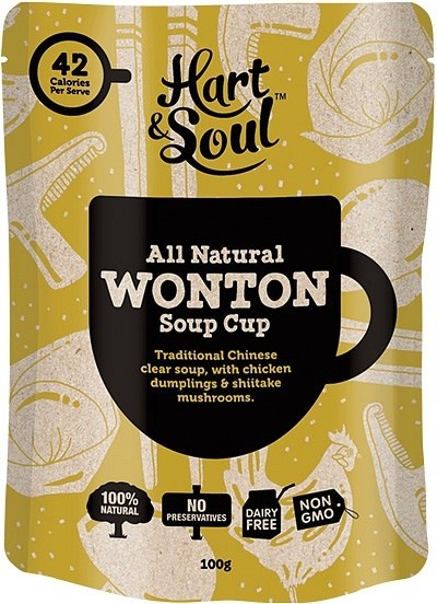 Hart & Soul All Natural Wonton Soup Cup Sachet 100g