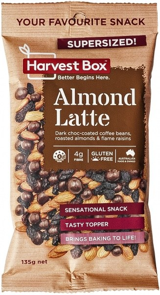 Harvest Box Almond Latte Snack   Value Bag 135g