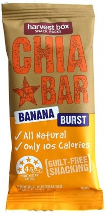 Harvest Box Chia Bar Banana Burst 16x25g