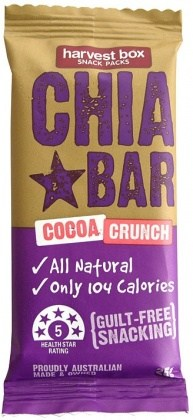 Harvest Box Chia Bar Cocoa Crunch 16x25g AUG17