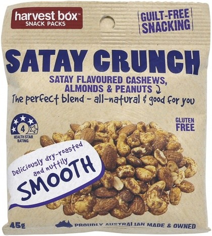 Harvest Box Satay Crunch Nuts (Cashews, Almonds & Peanuts)  45g