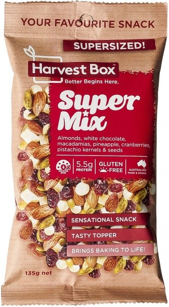 Harvest Box Super Mix Snack   Value Bag 135g