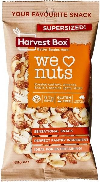 Harvest Box We Love Nuts Snack   Value Bag 135g