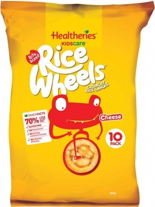 Healtheries Kidscare Rice Wheels Cheese 10Pk