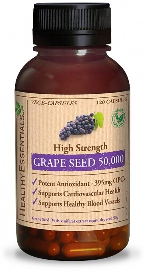 Healthy Essentials Grape Seed 50 000mg 120 Vege caps