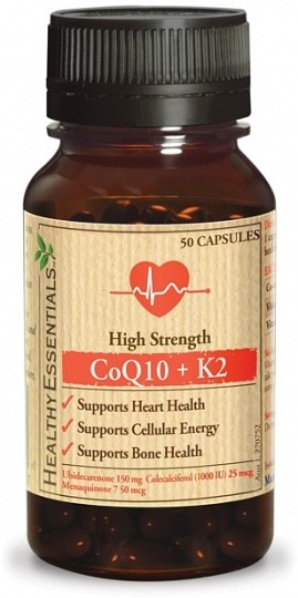 Healthy Essentials High Strength CoQ10 + K2 50caps