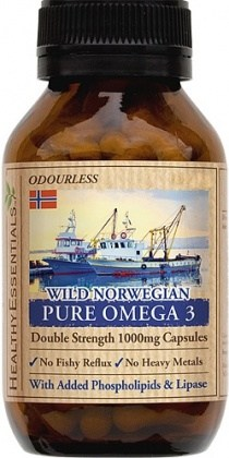 Healthy Essentials Wild Norwegian Pure Omega 3 EPA/DHA 100caps