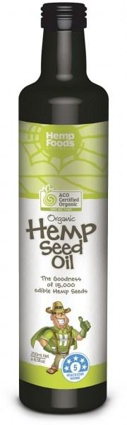 Hemp Foods Australia Cold Pressed Extra Virgin Hemp Oil Organic 250ml
