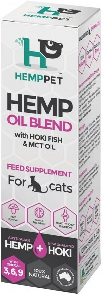 Hemp Pet Hemp Oil Blend with Hoki Fish & MCT Oil Feed Supplement for Cats 100ml