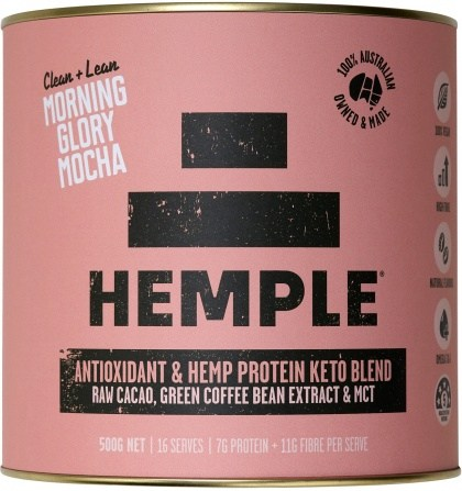 Hemple Clean & Lean Morning Glory Mocha (Raw Cacao, Green Coffee Bean Extract & MCT) 500g