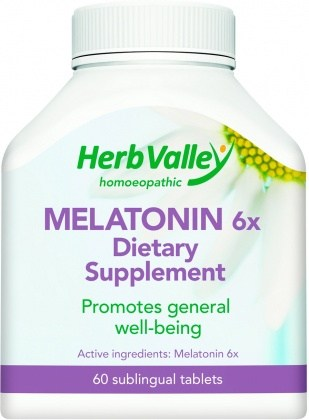Herb Valley Homeopathic Melatonin  60tabs