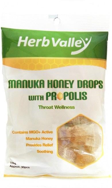 Herb Valley Manuka Honey Drops with Propolis Lozenges (30Pcs)150g