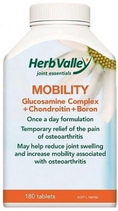 Herb Valley Mobility Glucosamine+Chondroitin+Boron 180tabs