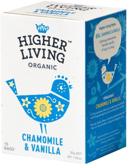 Higher Living Organic Chamomile & Vanilla 15Teabags