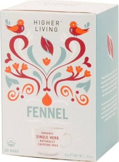 Higher Living Organic Fennel Tea 20Teabags