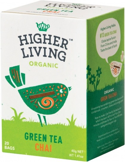 Higher Living Organic Green Tea Chai 20Teabags