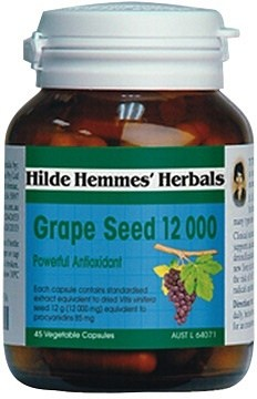 Hilde Hemmes Grape Seed 12,000mg x 45caps