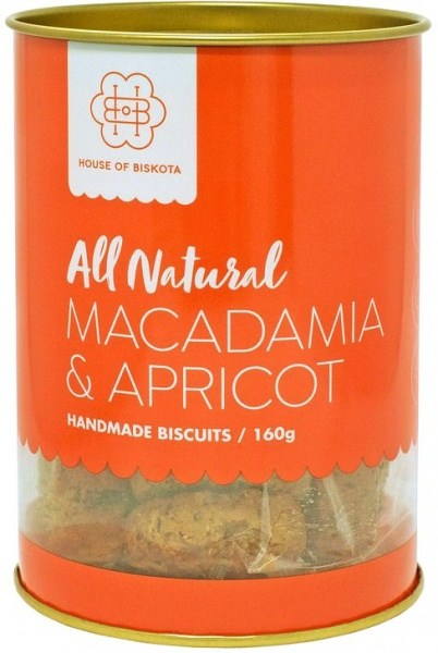 House of Biskota All Natural Macadamia & Apricot Biscuits  160g