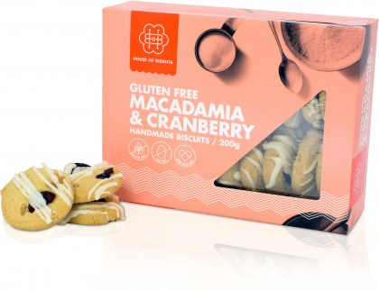 House of Biskota Gluten Free Macadamia & Cranberry Biscuits 200g