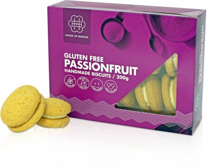 House of Biskota Gluten Free Passionfruit Biscuits 200g