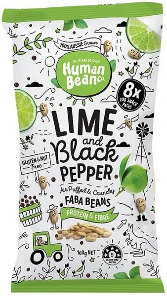 Human Bean Co Lime & Black Pepper Multipack (8x20g) Faba Beans  160g FEB21