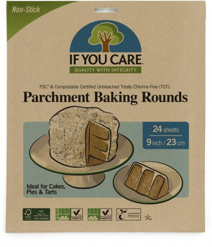 If You Care Parchment Baking Paper Rounds 24 Sheets