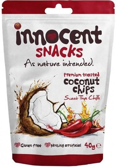 Innocent Coconut Chips Sweet Thai Chilli 12x40g