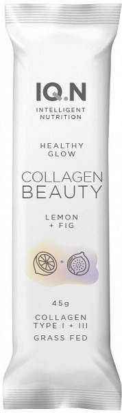 IQ.N Healthy Glow Collagen Beauty Bars Fig & Lemon 10x45g