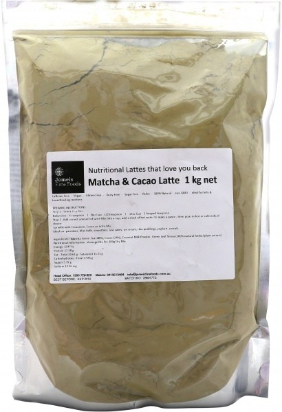 Jomeis Fine Foods Organic Matcha Cacao Latte  1kg