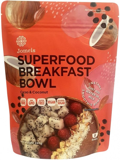 Jomeis Superfood Breakfast Bowl Cacao & Coconut Powder  240g